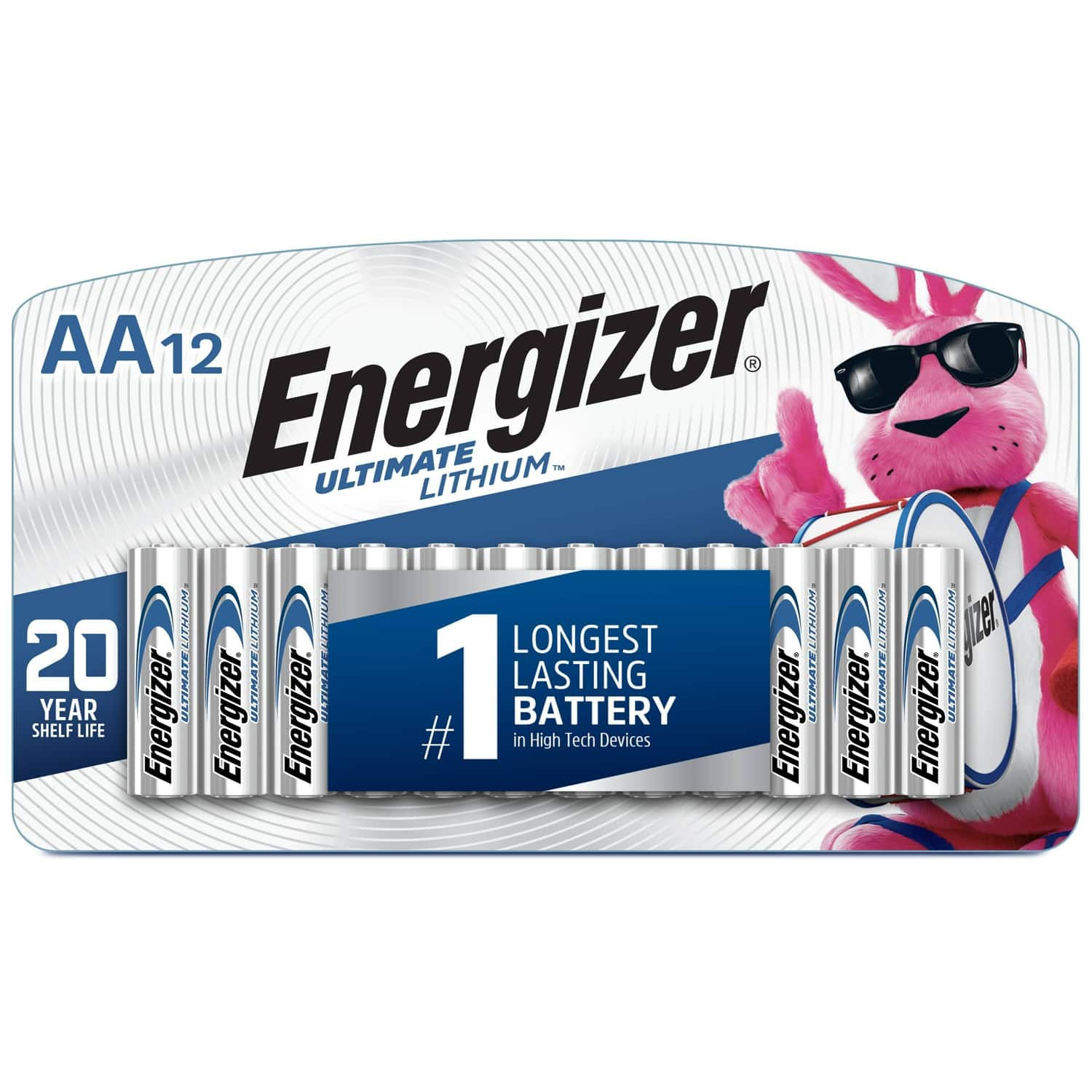 Energizer 12 pack Ultimate Lithium AA Batteries - 70% off, Target instore only $4.79