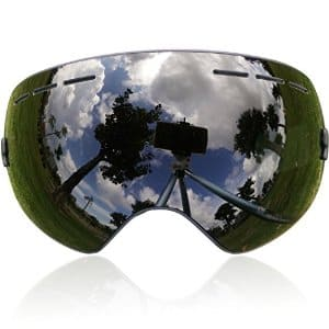 50% OFF for Zionor Ski Goggles with Detachable Lens - Dark Brown Silver Lens