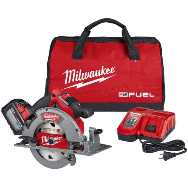 M18 FUEL 18-Volt Lithium-Ion Brushless Cordless 7-1/4 in. Circular Saw Kit with (1) 12.0Ah Battery, Charger, Tool Bag $279.99