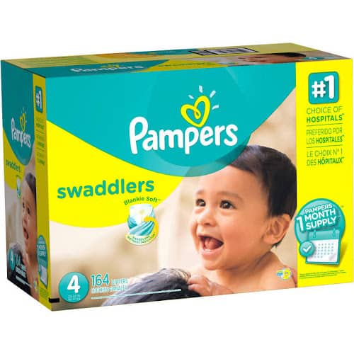 Pampers Swaddlers Diapers Size 2-5 Lowest Prices on Google Express/Walmart