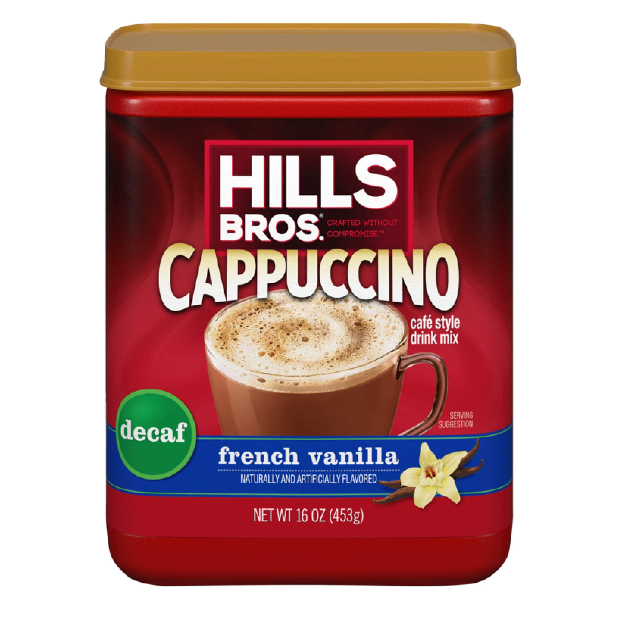 16-Oz Hills Bros. Instant Cappuccino Mix (decaf french vanilla) $2.70 w/ S&S + Free Shipping w/ Prime or on $25+