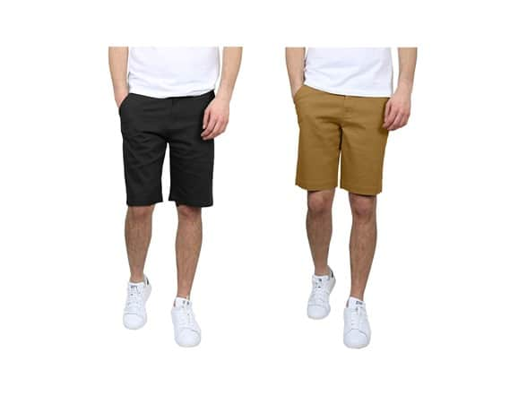 Amazon Prime Members: 2-Pack Galaxy By Harvic Men's 5-Pocket Cotton Stretch Chino Shorts (various) $20 + SD Cashback + Free Shipping