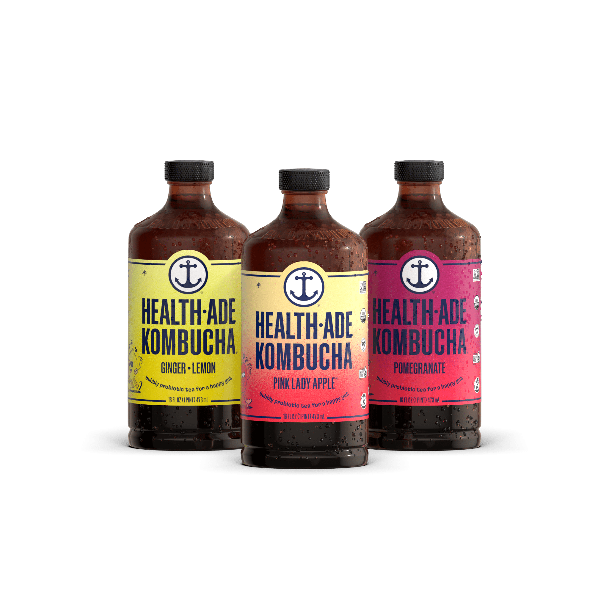 Health-Ade 35% Off Sitewide Coupon: 12-Pack 16-Oz Kombucha Tea Organic Probiotic Drink (Various) $31.20, 6-Pack 16-Oz PLUS Sampler (6 flavors) $20.80 & More + Free Shipping