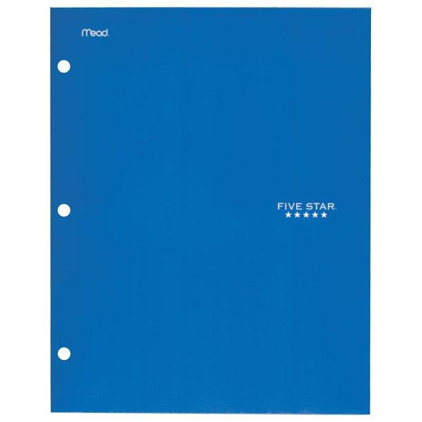Five Star 4-Pocket Paper Folder (10 assorted colors) $0.97 + Store Pickup at Walmart or F/S w/ Walmart+