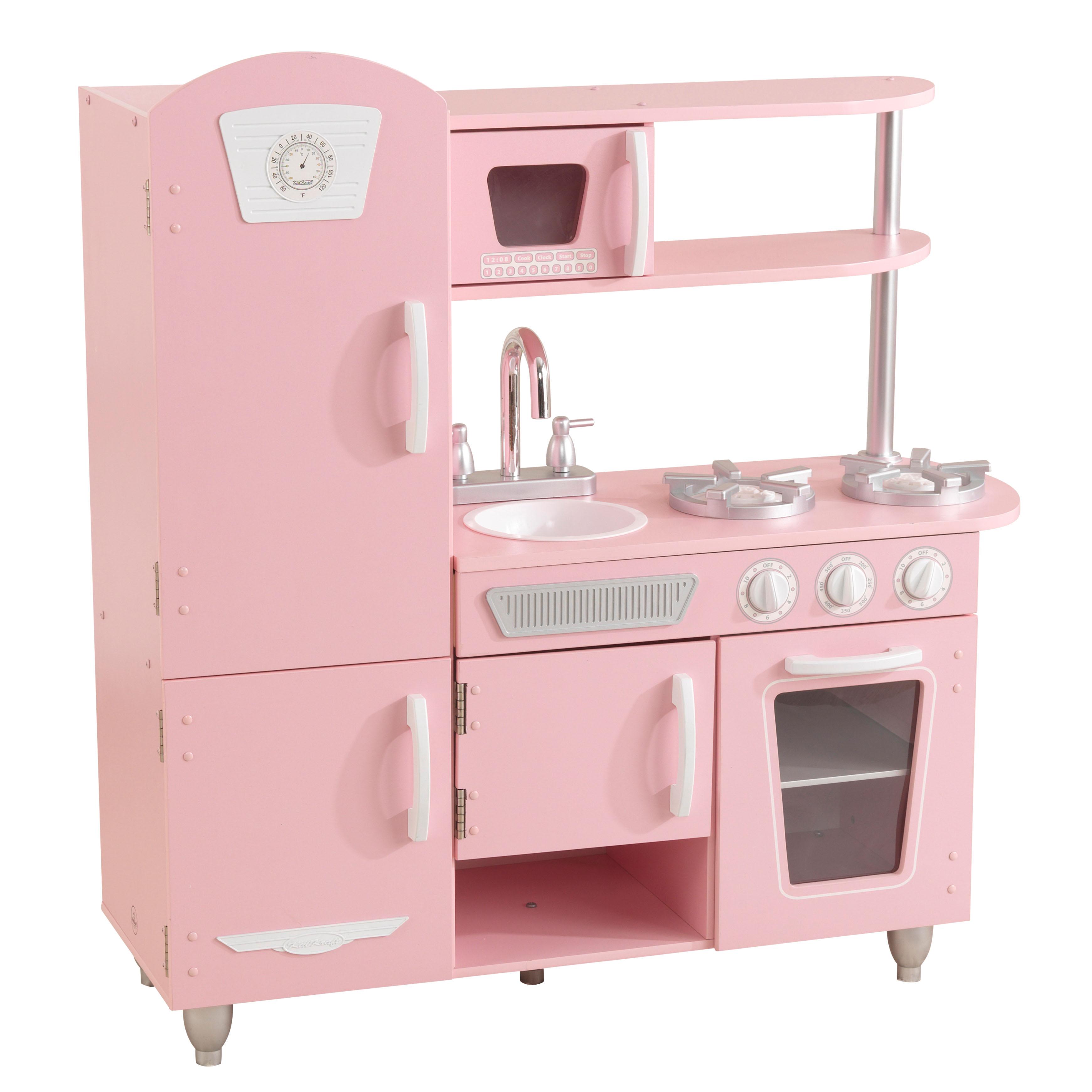 KidKraft Wooden Vintage Play Kitchen (pink) $89 + Free Shipping