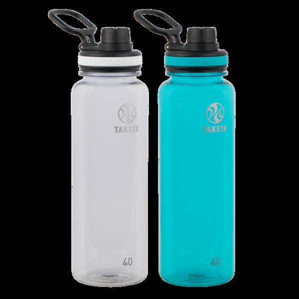2-Pack 40-oz Takeya Tritan Water Bottles w/ Spout Lid (various colors) $12 ($6 each)+ Free Shipping