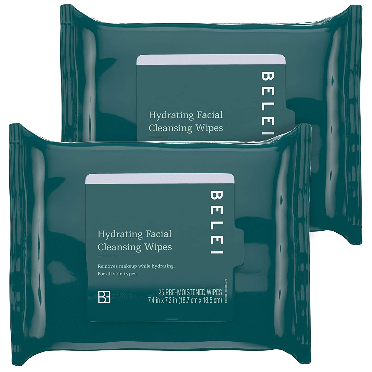 2-pack 25-Count Belei Hydrating facial Cleansing Wipes $6.30 w/ Subscribe & Save + Free Shipping w/ Prime or $25+