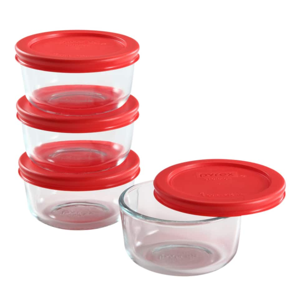 10-Piece Chef Buddy Glass Food Storage w/ Snap Lids $16, 4-Count 1-Cup Pyrex Simple Storage Dish Value Pack $10.20 & More + F/S on $35+
