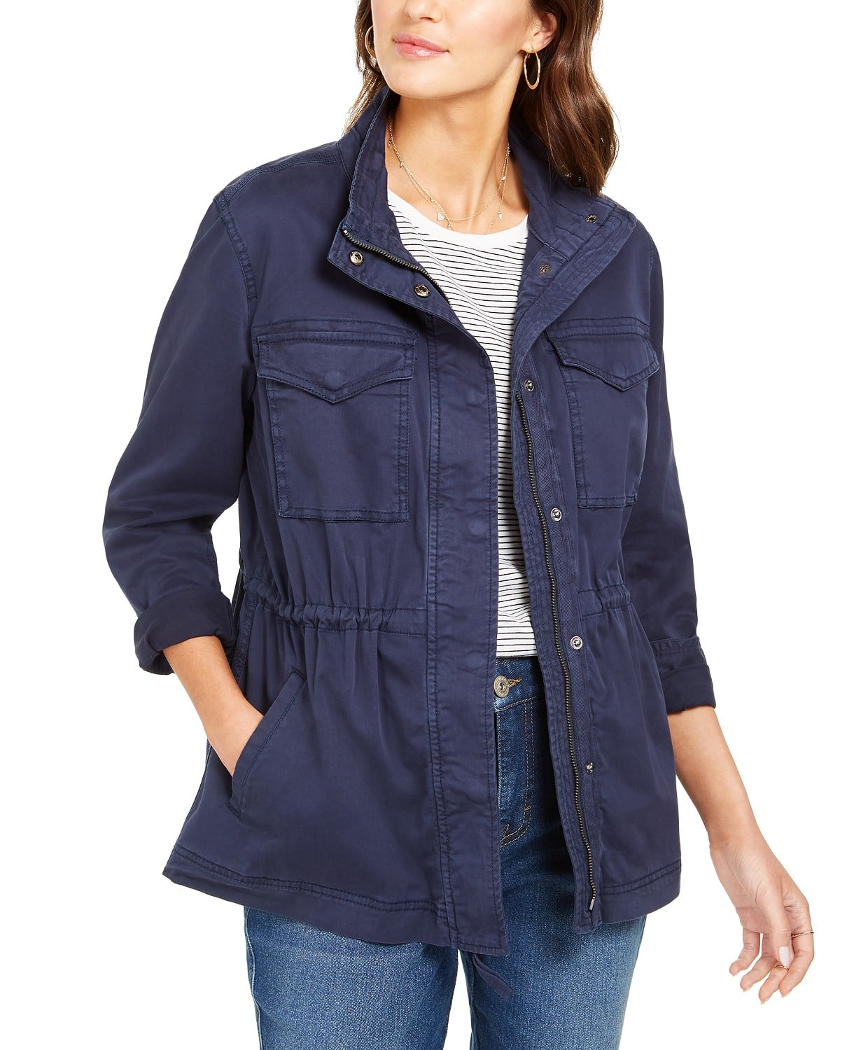 Style & Co Women's Twill Jacket $23.73, 32 Degrees Hooded Raincoat $35 & More + Free Shipping on $25+ $29.99