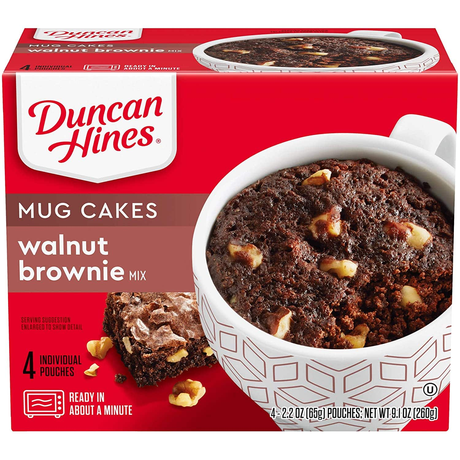 4-Count Duncan Hines Mug Cakes (walnut brownie) $1.74 + Free Shipping w/ Prime or on $25+