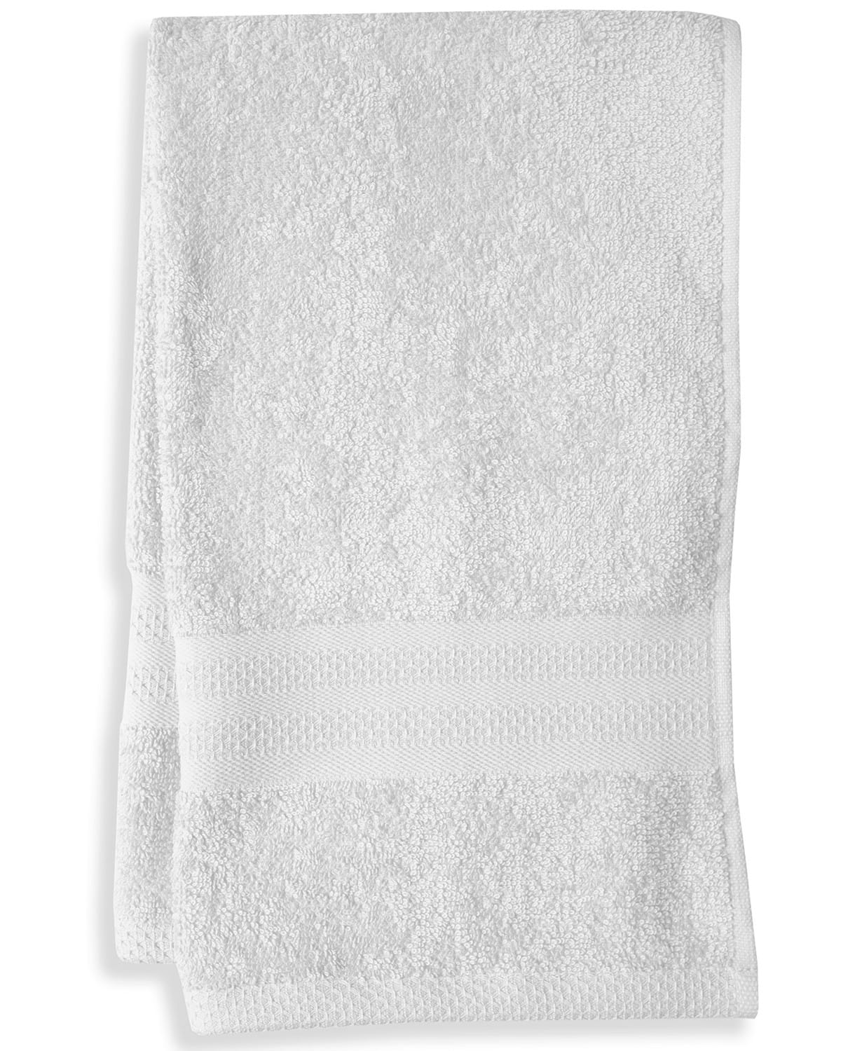 Mainstream International Inc. Cotton Hand Towel (white) $2 + 6% Slickdeals Cashback (PC Req'd) + Free Store Pickup at Macys or F/S on $25+