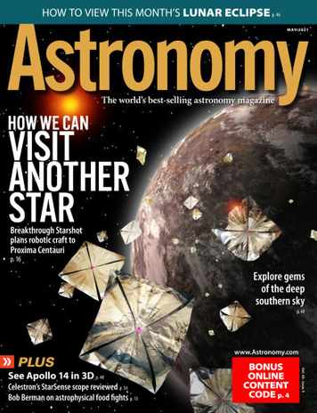 Magazines: Astronomy (12 issues) $13/year & More + Free Shipping