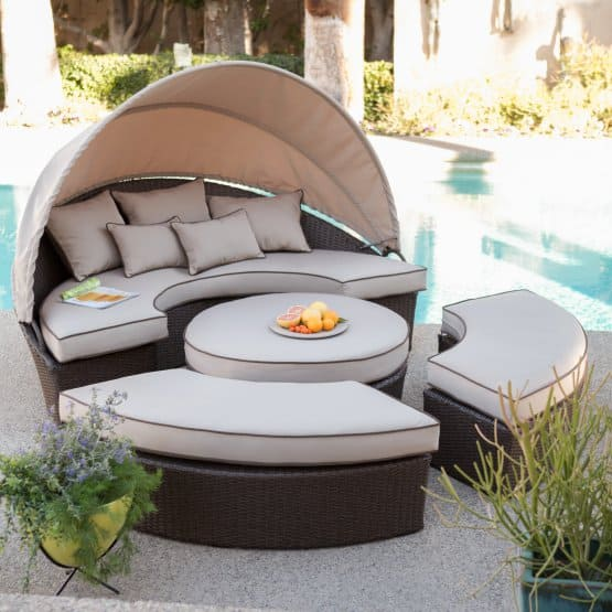 Belham Living Rendezvous All-Weather Wicker Sectional Daybed @ Hayneedle $899.98