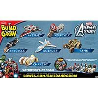Lowes Deal: Lowes Build and Grow Avengers Kit Workshops June-August 2015