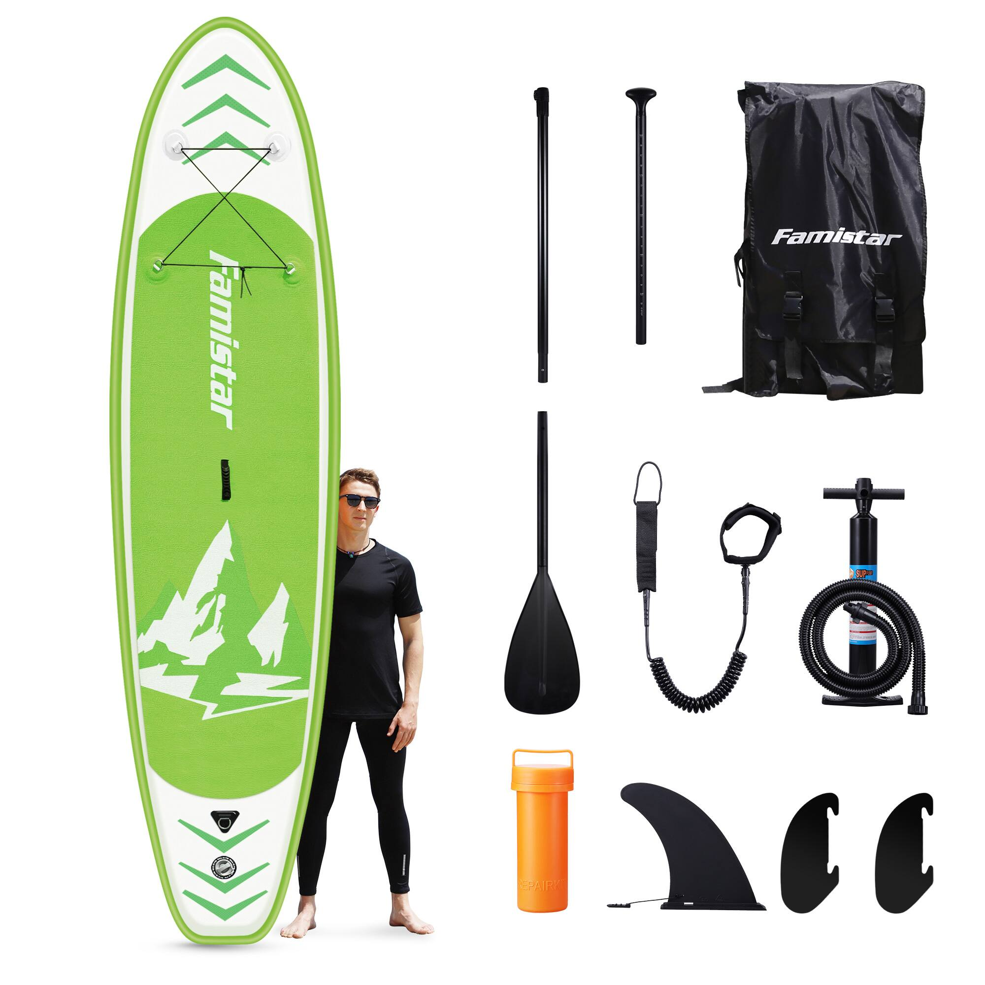 YMMV-Famistar 12' Inflatable Stand Up Paddle Board SUP w/ 3 Fins FS+$299