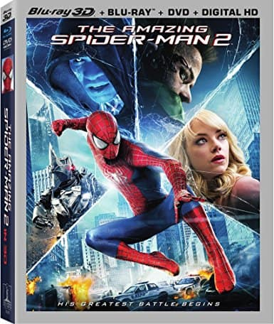 The Amazing Spider-Man 2 box set: 3-D Blu-ray + Blu-ray + DVD + Digital Copy $10.87 Shipped w/ Prime
