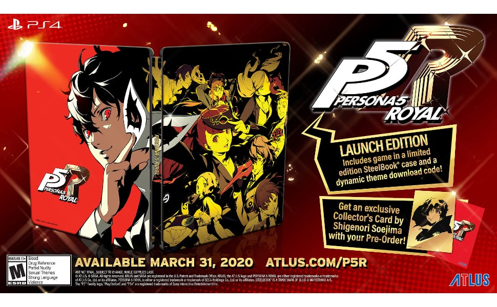 Persona 5 Royal: Steelbook Launch edition preorder (ps4) $49.94 @amz