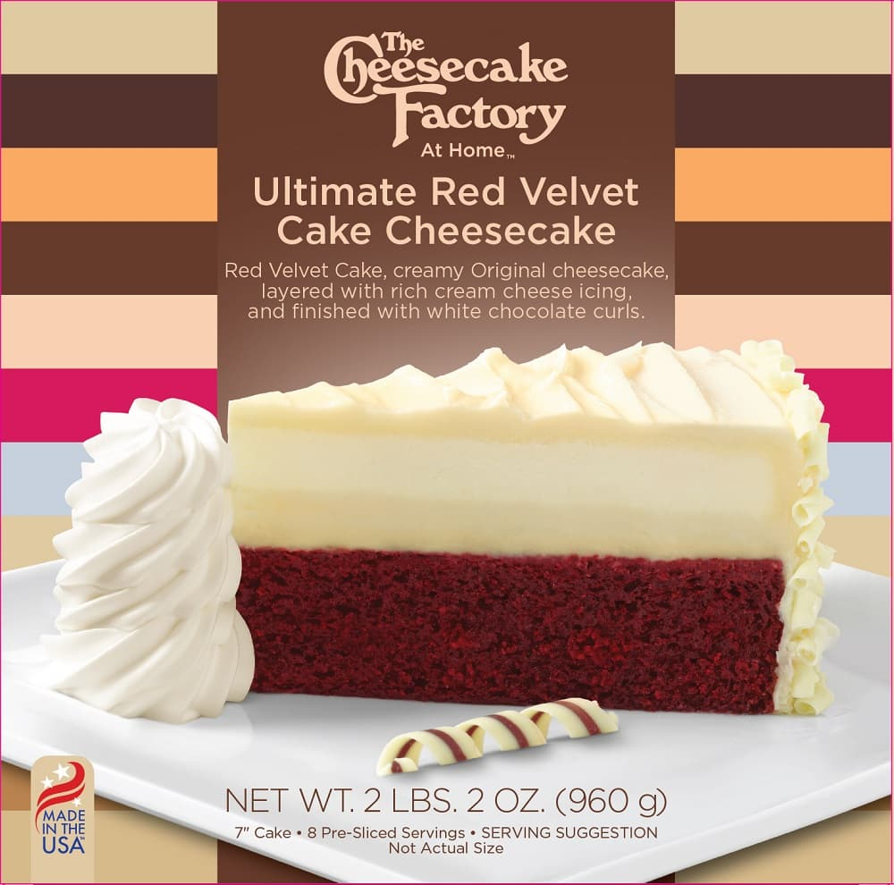 The Cheesecake Factory at Home - Ultimate Red Velvet Cake Cheesecake (2LB 2OZ) for $5.69