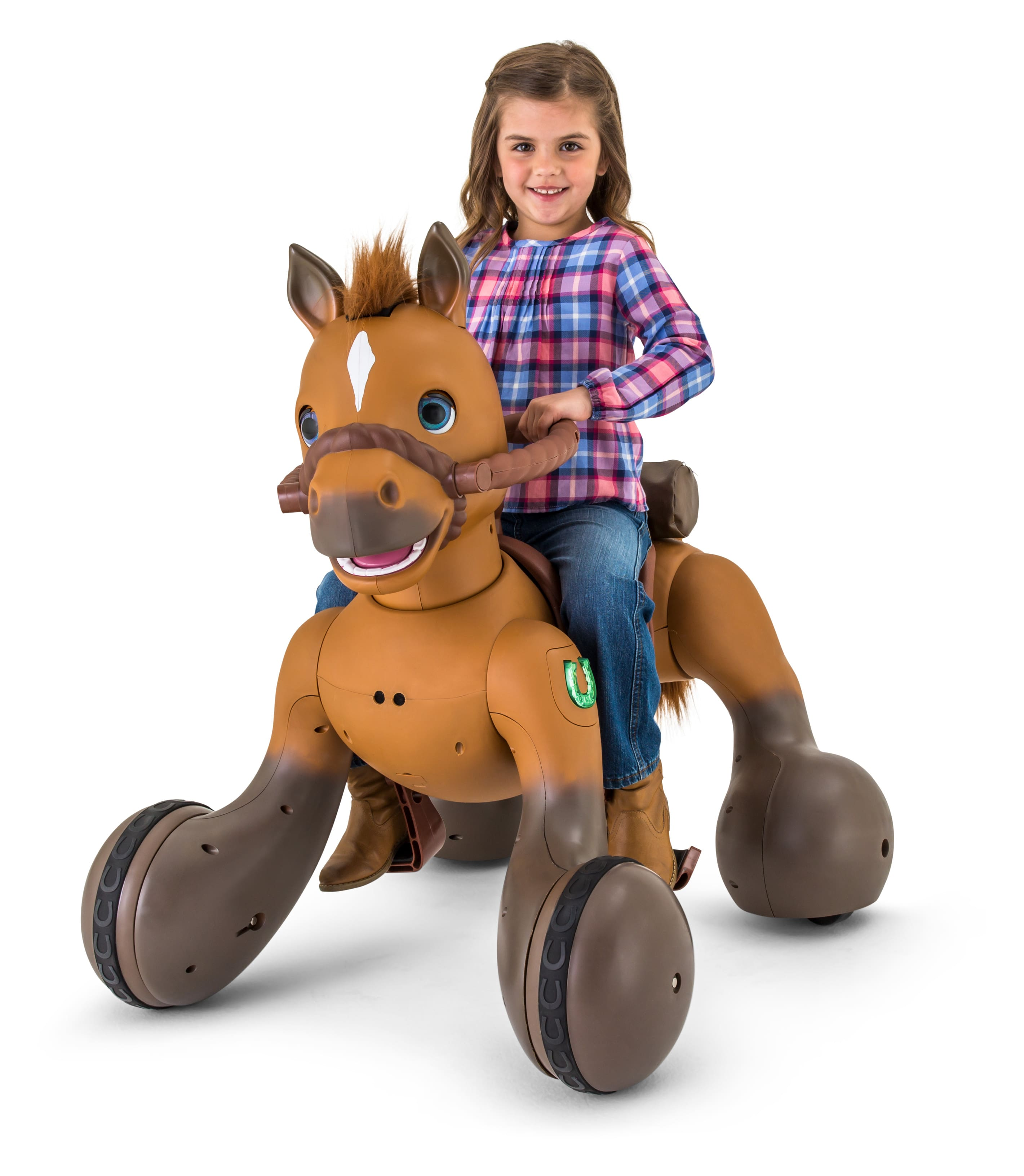 12-Volt Rideamals Scout Pony Interactive Ride-On Toy by Kid Trax $119