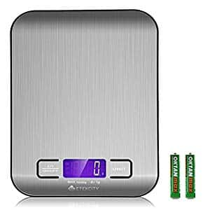 Etekcity Kitchen Food Stainless Scale 11 lb/5kg,Silver $9.86