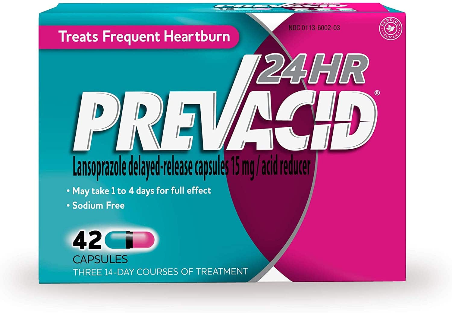 Prevacid 24HR Lansoprazole Delayed-Release Capsules, 15 mg- Proton Pump Inhibitor (PPI) for Heartburn Relief, 42 Count for $11.85 at Amazon