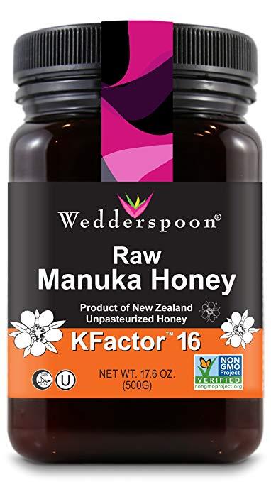 Wedderspoon Raw Premium Manuka Honey KFactor 16, 17.6 Oz Amazon.com with 5 S&S $21.67