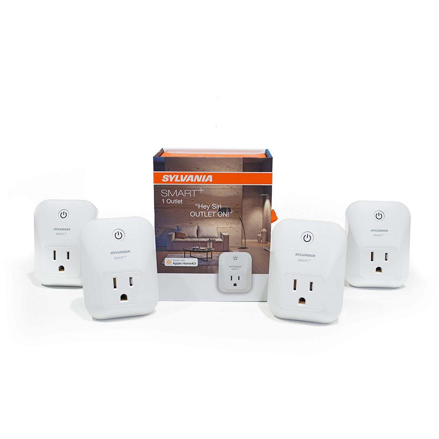 SYLVANIA General Lighting 70741 Sylvania 74582 + Bluetooth Smart Plug, Works with Apple Homekit and Siri Voice Control, No Hub Required for Set up, 4 Pack $42.95