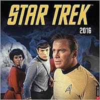 Amazon Deal: Star Trek Original Series 2016 Wall Calendar 7.68 & tax with Prime