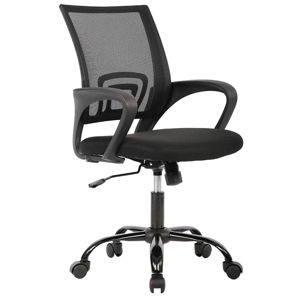 Office Chair Ergonomic Cheap Desk Chair Mesh Computer Chair Lumbar Support Modern Executive Adjustable Stool Rolling Swivel Chair for Back Pain, Black $29.97