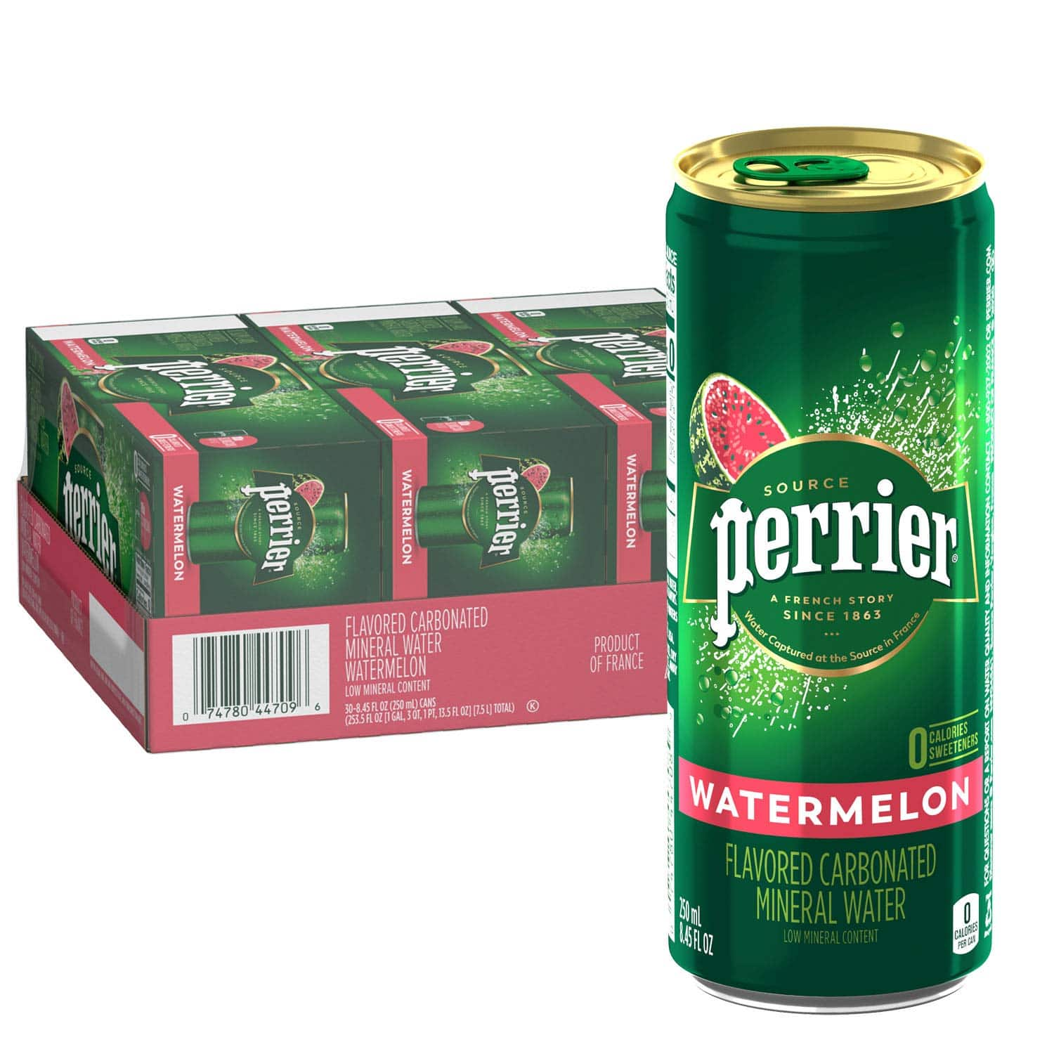 Perrier 30 pack slim cans Watermelon flavor $12.06 FS w/Prime at Amazon $12.06