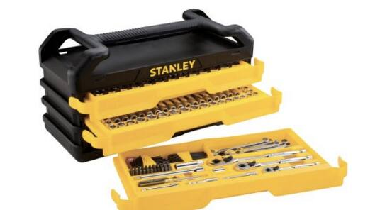 stanley 235pc mechanics tool set with 3 drawer chest 90 at walmart. Black Bedroom Furniture Sets. Home Design Ideas