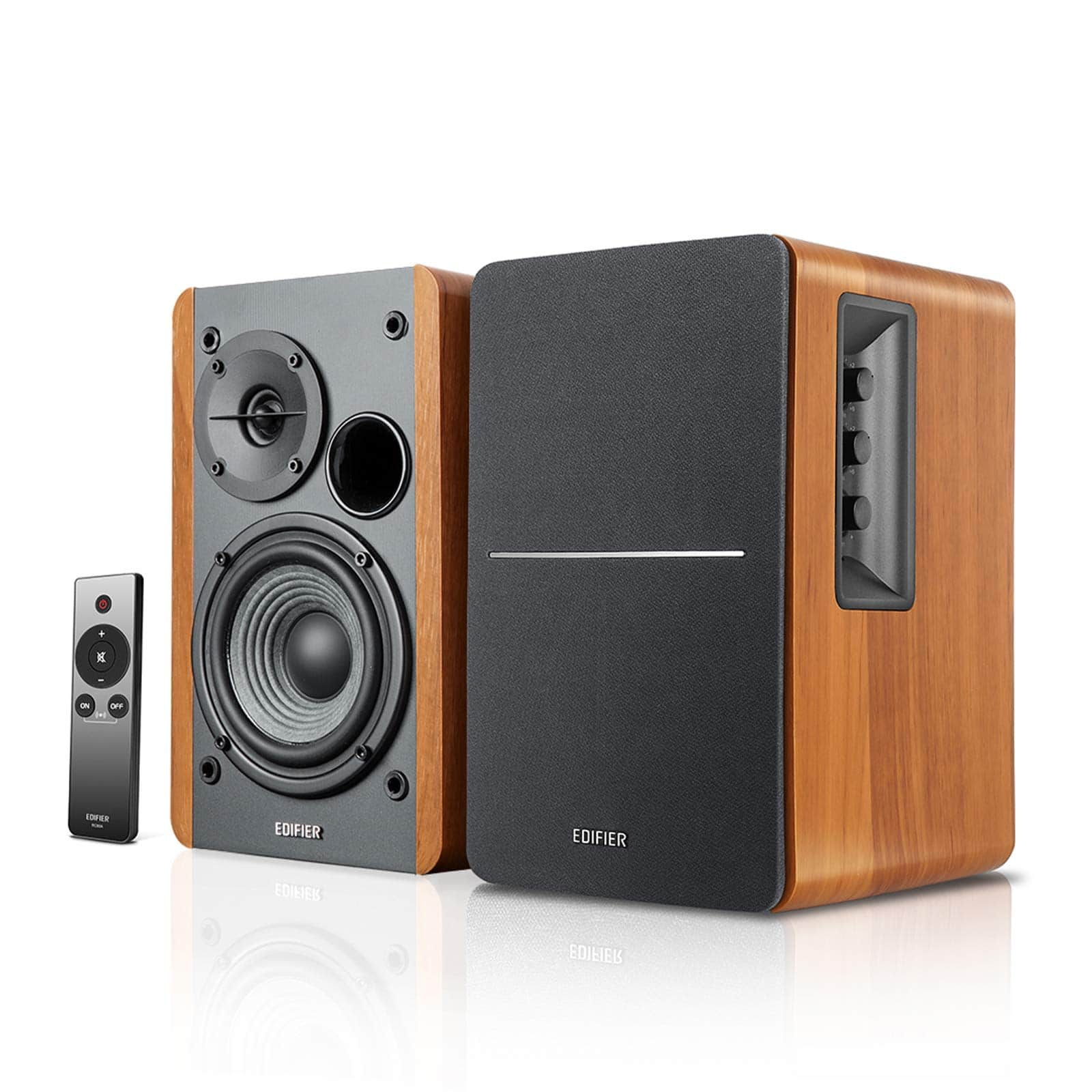 Edifier R1280Ts Powered Bookshelf Speakers - 2.0 Stereo Active Near Field Monitors - Studio Monitor Speaker - 42 Watts RMS with Subwoofer Line Out - Wooden Enclosure $98.99