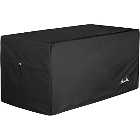 Deck Box Cover- Heavy Duty 600D Polyester Oxford Deck Box Cover to Protect Large Deck Box $25.99