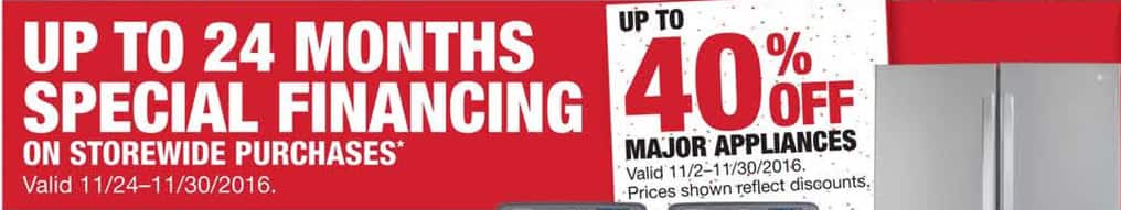 Home Depot Black Friday: Up to 24 Months Special Financing on Storewide Purchases - Home Depot Credit Card