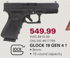 Gander Mountain Black Friday: Glock 19 Gen4 Handgun for $549.99