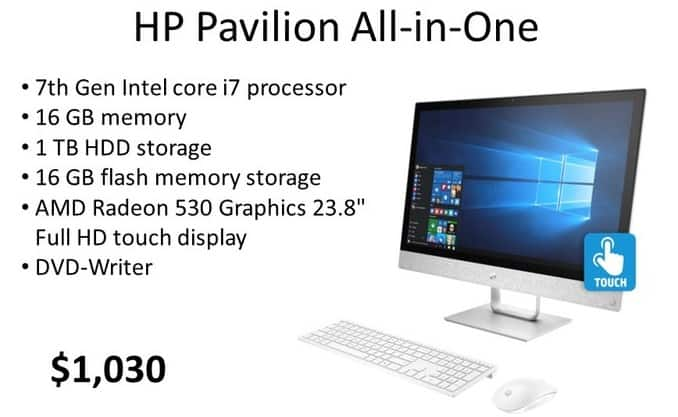 HP Weekly Ad: HP Pavilion 24-r055se All-in-One for $1,030.00