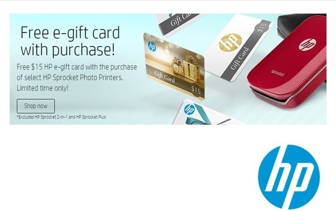 HP Weekly Ad: Sprocket - Free gift card w/purchase