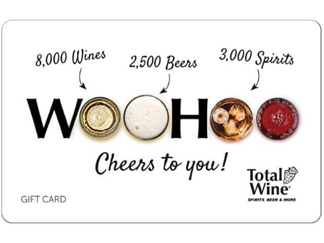 """Total Wine & More $100 Gift Card (Email Delivery) $90  """"Limit 3"""" at Newegg"""