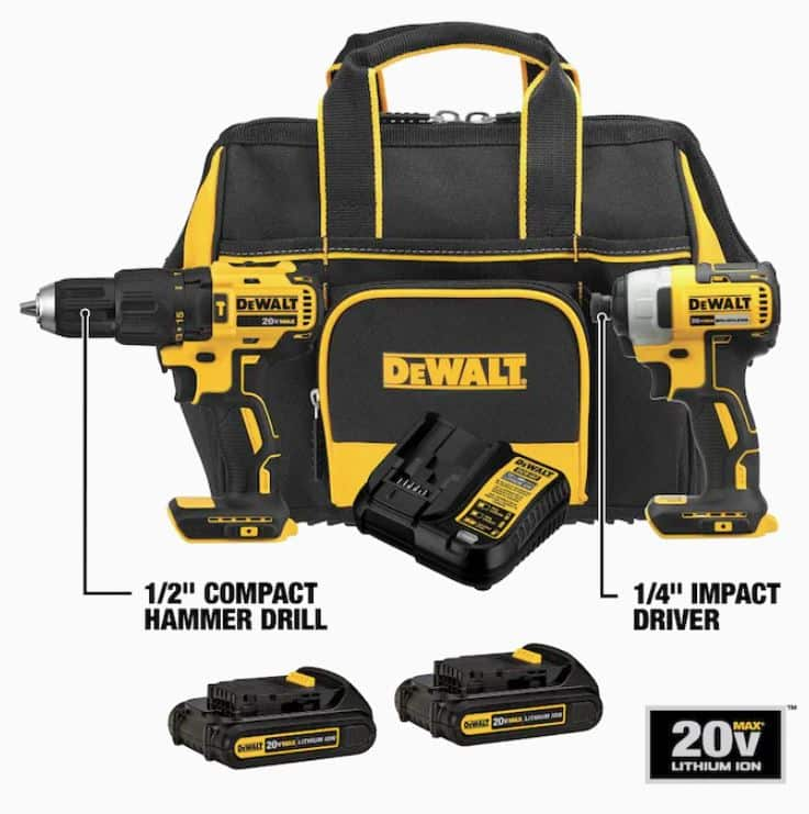 Free 20v Dewalt tool with purchase of kit $199 at Lowes