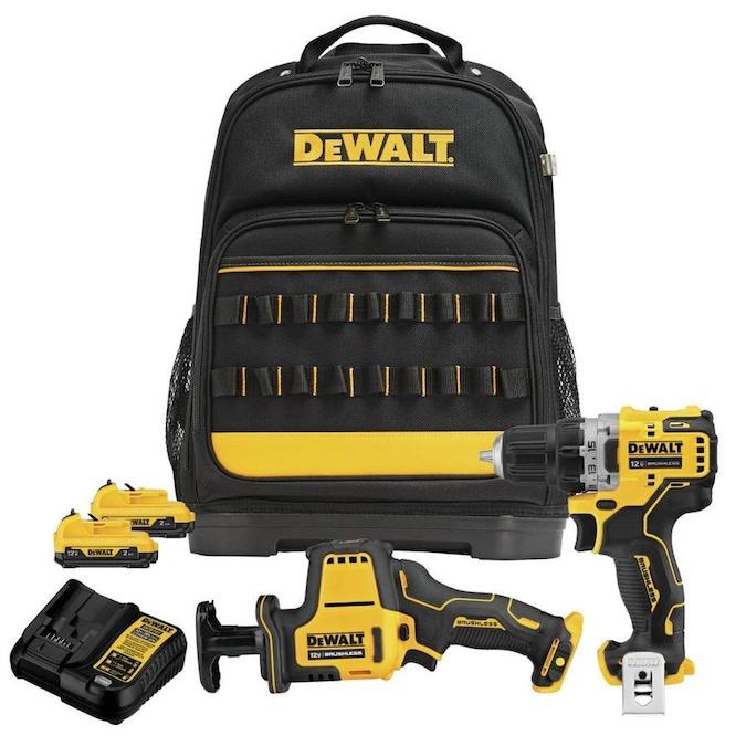 Dewalt 2 tool extreme 12V kit with backpack $149