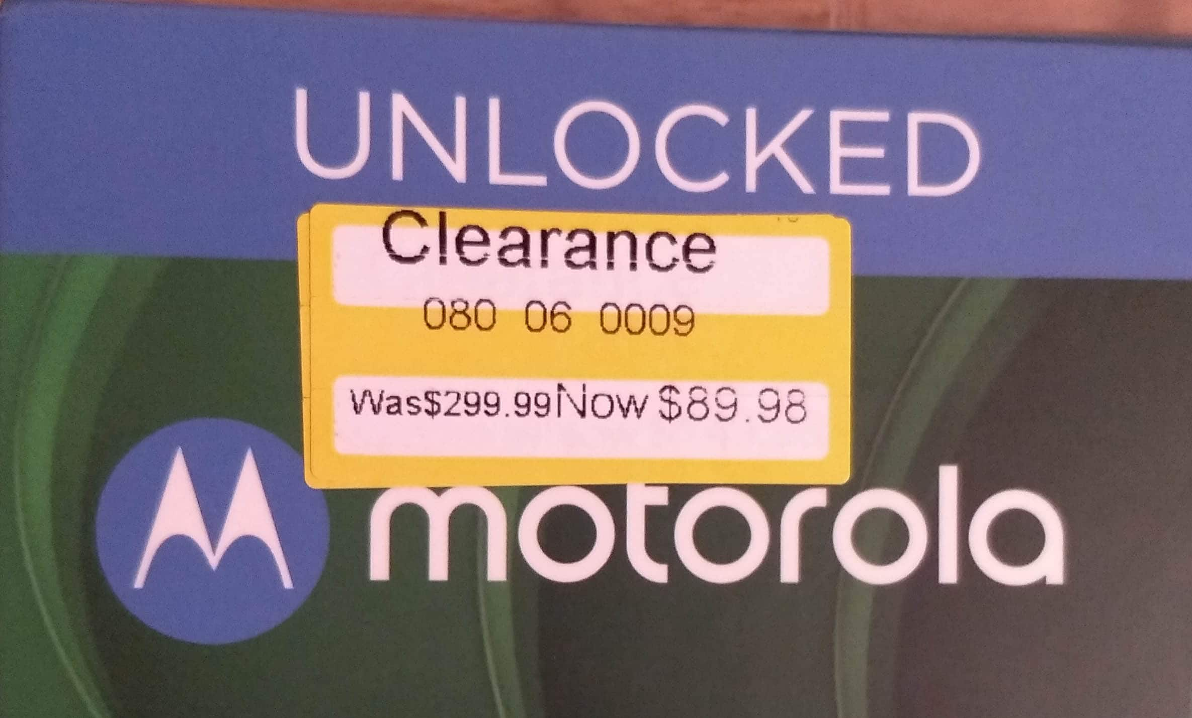 Motorola G7 phone UNLOCKED $89.98 or $149.98 on clearance @ Target. In-store only, YMMV