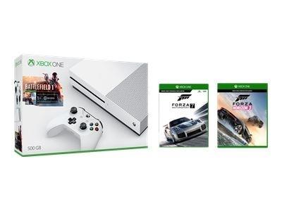 Microsoft Corporation XBOX One S 500GB Battlefield 1 bundle + Forza Motorsports 7 + Forza Horizon 3 FS $229.99