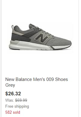 New Balance:  Up to 60% off, direct from brand | Valid through 2/18/2020
