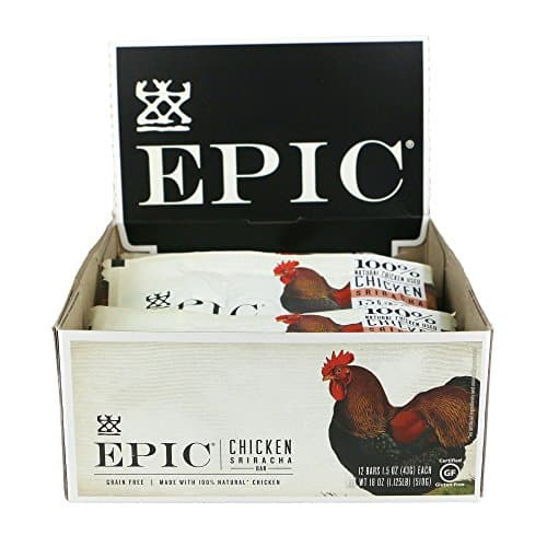 Amazon: EPIC Chicken Sriracha Protein Bars 12Ct Box 1.5oz bars 35% OFF with coupon + Free Shipping $15.90