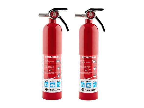 Woot!: 45% OFF on First Alert HOME1 Rechargeable Standard Home Fire Extinguisher (2-Pack) $32.99