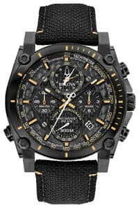 73% Sale on Bulova Precisionist Men's Quartz Black Nylon Strap 46mm Watch + Free Shipping $229.99