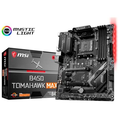 MSI - B450 TOMAHAWK MAX (Socket AM4) USB-C Gen2 AMD Motherboard $114.99