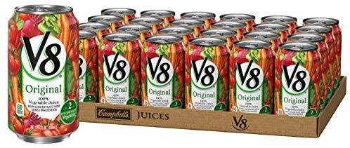 V8 Original 100% Vegetable Juice, 11.5 Fl Oz Can, Pack of 24 $10.96