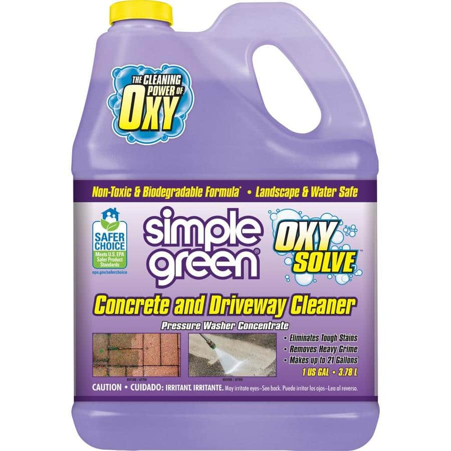 All Simple Green Oxy Solve 1-Gallon Pressure Washer Cleaner $2.5
