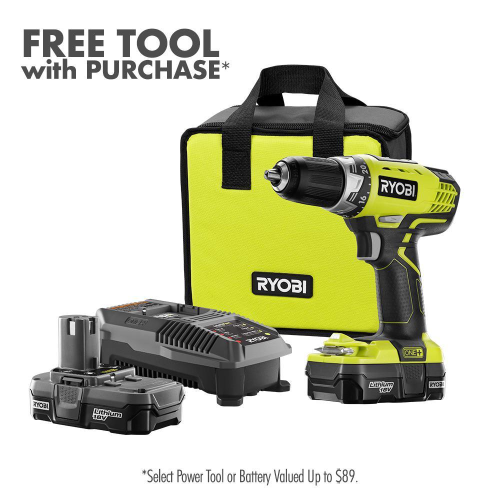 Ryobi Drill/Driver + Battery Kit w/ Charger + Bonus Bare Tool $99 + Free Store Pickup